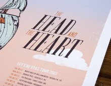 The Head And The Heart Tour Poster